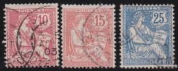 France   .     Yvert   .        116/118       .       O     .      Oblitéré