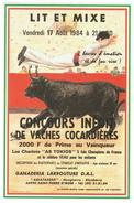 Affiche // Concours Inédit De Vaches Cocardières à Saint-Pierre D'Irube - Affiches
