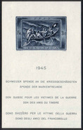 1945 Zu W 21I Don Suisse Gomme Blanche */MH SBK 220,-, Découpé **/MNH Voir Description
