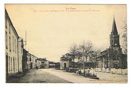 CPA 81 SAINT PAUL CAP DE JOUX L'avenue De Castres Et L'église - Saint Paul Cap De Joux