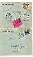 Egypt 2 Covers 1 Registered Censored 1919 To Belgium Antwerp PR4620