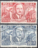 Poland 1951 - Pres. Boleslaw Bierut - Mi 702,04 - 2v - Used