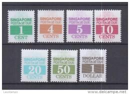 Singapore 1989-1997 Postage Due Including The 1c, 4c Key Values, SG D21-D27 MNH
