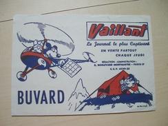 BUVARD VAILLANT PIF PLACID MUZO ARNAL Parti Communiste Humanité Hélicoptère Camping Tente - Buvards, Protège-cahiers Illustrés