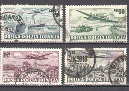 Poland 1952 Airmail - Mi 728-31A - Used