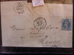 Lot Du 20.05.17_n°29 Sur GF,a Voir! Variété Et GC 1386 De Elbeuf - Postmark Collection (Covers)