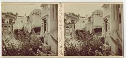 Année 1900 ITALIE GENOA GÊNES : Monuments Funéraires Au CAMPO SANTO - PHOTO STÉRÉOSCOPIQUE STEREO STEREOVIEW - Stereoscopio