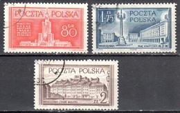 Poland 1953 - Warsaw Reconstruction - Mi 824-26 - Used