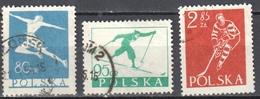 Poland 1953 - Winter Sports Mi 831-33 - Used