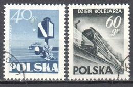 Poland 1954 - Railworkers Day Mi 868-69 - Used