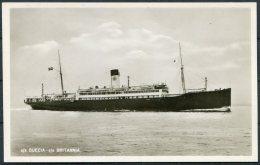 Swedish Lloyd Gothenburg S/S SUECIA S/S BRITANNIA RP Ship Postcard - Ferries