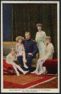 Belgium Tuck Oilette Postcard 8765. The Belgian Royal House. King, Queen & Children. - Royal Families
