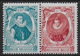 Belgique N°  581A / 582A  **    -- Cote : 12 €