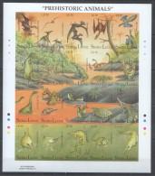 OO16 IMPERFORATE SIERRA LEONE PREHISTTORIC ANIMALS DINOSAURS KB MNH
