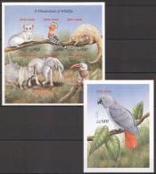 OO45 !!! IMPERFORATE SIERRE LEONE FAUNA ANIMALS WONDERLAND OF WILDLIFE BL+KB MNH