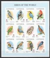 OO119 !! IMPERFORATE GUYANA FAUNA BIRDS OF THE WORLD 1SH MNH