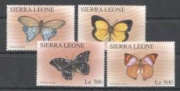 OO257 SIERRA LEONE FLORA & FAUNA BUTTERFLIES 1SET MNH