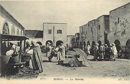 Pays Div-ref H770- Algerie - Biskra -le Marché - Nd Photo  - Carte Bon Etat  -