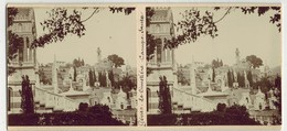 Année 1900 ITALIE GENOA GÊNES : Le Cimetière De CAMPO SANTO - PHOTO STÉRÉOSCOPIQUE STEREO STEREOVIEW - Stereoscopio