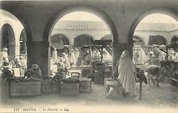 Pays Div-ref H769- Algerie - Biskra -le Marché - Nd Photo  - Carte Bon Etat  -