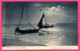 Colombo - Fishing Canoes - Bateau De Pêche - Animée - ANDRÉE N° 107 - Sri Lanka (Ceylon)