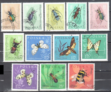 Poland 1961 Insects - Butterflies - Mi 1277-88 - Used