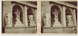 Année 1900 ITALIE GENOA GÊNES : Galeries Du CAMPO SANTO - PHOTO STÉRÉOSCOPIQUE STEREO STEREOVIEW - Statues Pieuses - Stereoscopio