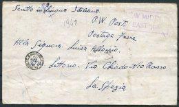 1942 Italy POW Camp Middle East Forces, Kriegsgefangenen. German + Italian Censors - La Spezia - 1900-44 Vittorio Emanuele III