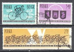 Poland 1962 - Intl. Peace Bicycle Race - Mi 1306-08 - Used