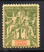 Col 4/ Grande Comore  N° 13 Neuf (X) MH   Cote 40,00€ - Great Comoro Island (1897-1912)