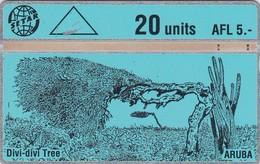 Aruba, ARU 06,  Divi Divi Tree 1, 2 Scans. Control: 305A - Aruba