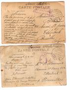 Guerre-Oorlog 14-18 2 CP Camp De Harderwijk Censure Aachen 1915 V.Etterbeek PR4626