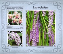 Guinea. 2017 Orchids. (120b)