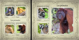 Guinea 2017, Animals, Monkey, 4val In BF +BF