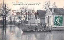 94 - St Saint Maur Créteil - Inondations De Janvier 1910 - Villa Schaken - Sauvetage Des Habitants - Saint Maur Des Fosses