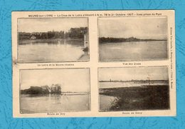 MEUNG SUR LOIRE Crue De La Loire 21 Octobre 1907 Multivues Scan Recto/verso - Sonstige Gemeinden