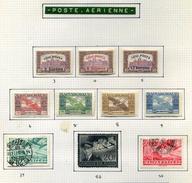 10 Timbres De Hongrie (Poste Aérienne)