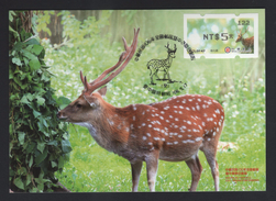 Taiwan R.O.CHINA - ATM Frama -Maximum Card.- Sika Deer #122 Black Imprint - ATM - Frama (vignette)