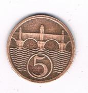 5 HALLERU 1926 TSJECHOSLOWAKIJE /1746C//