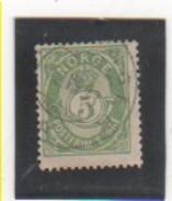 NORVEGE 1883-90 YT N° 38a