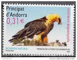 Andorra Español 2008 Yvert 337 Neuf ** Cote (2015) 1.20 Euro Gypaète Barbu