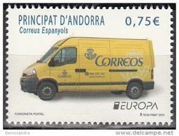 Andorra Español 2013 Yvert 391 Neuf ** Cote (2015) 2.30 Euro Europa CEPT Camionnette De La Poste