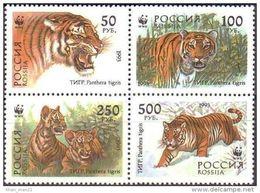 Russia, 1993, WWF, Tiger, MNH