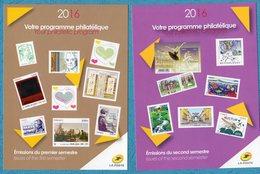 Programme Philatelique 2016 Lot De 2 Cartes 1er Et 2é Semestres - Autres