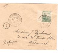 France TP 149 Surtaxe S/L.c.St.Germain En Laye Congrès De La Paix 10/9/19 V.Belgique Watermael C.d'arrivée PR4636 - Marcophilie (Lettres)