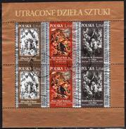 Poland  2009 Sheetlet  Used  Paintings Rubens Dürer Rembrandt