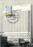 """(M) DDR Selt. Private Maximumkarte Mi-Nr. 2593 SSt. Leipzig  8.9.80 """"Leipziger Frühjahrsmesse 1981-Hotel Merkur"""""""
