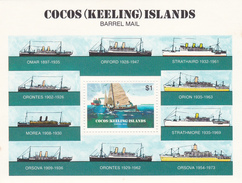 Cocos (Keeling) Islands SG 114 MS  1984 Barrel Mail MNH Miniature Sheet - Cocos (Keeling) Islands