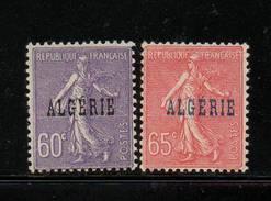 ALGERIE     NEUF Sans Charniere     N°  24/25     N**     1925 - Neufs