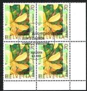 LA SERIE 7xBLOCS DE 4 OBLITERES 2003 C/DES TIMBRES SUISSES Nr:1073/1079. Y&TELLIER Nr:1745/1751. MICHEL Nr:1820/1826.
